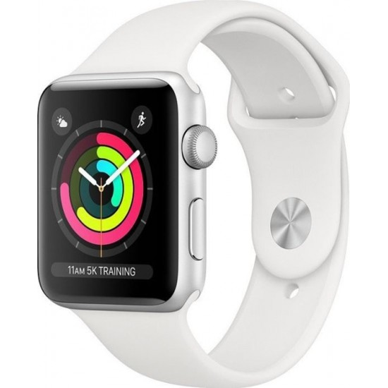 Apple  Watch Series 3 42mm Sport Band Silver White