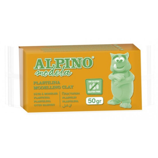 ALPINO πλαστελίνη 088DP00005801, χωρίς γλουτένη, 50γρ, πορτοκαλί