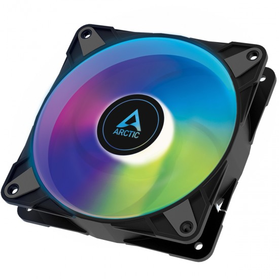 Arctic P12 PWM PST A-RGB 0dB – 120mm Pressure optimized case fan   PWM controlled speed with PST   A