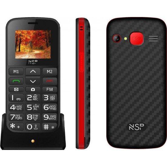 NSP 2000DS Dual Sim 32MB/32MB Black/Red